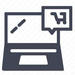 cart, computer, laptop, online, shop, shopping icon