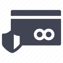 card, credit, safe, security, shopping icon