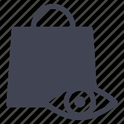 bag, eye, shopping, vision, watchlist icon