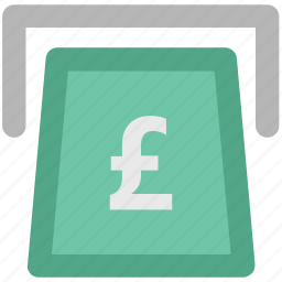 atm, banking, finance, online banking, pound, transaction, withdrawal icon