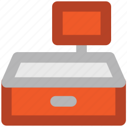 cash machine, cash register, cash till, checkout, paying, sale point, shopping icon