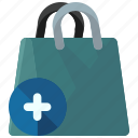add, bag, ecommerce, new, shop, shopping icon