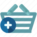 add, basket, ecommerce, new, shop, shopping icon