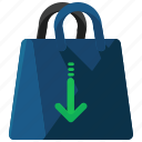 bag, commerce, insert, shopping icon