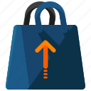 bag, purchases, remove, shopping icon