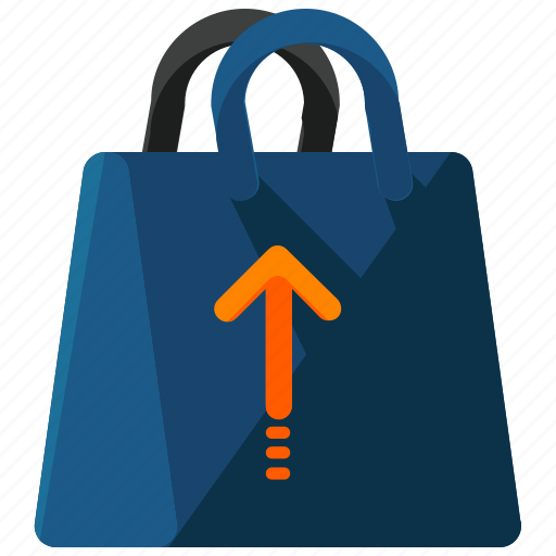 arrow, bag, extract, shop, shopping, up, upload icon