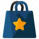 bag, bookmark, ecommerce, shop, shopping, star icon