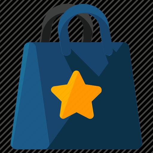 bag, bookmark, ecommerce, shop, shopping, star icon