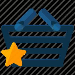 basket, bookmark, ecommerce, shop, shopping, star icon