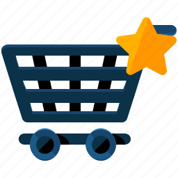 bookmark, cart, ecommerce, shop, shopping, star icon