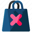 bag, cancel, commerce, ecommerce, shopping icon