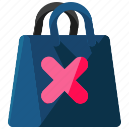 bag, cancel, delete, ecommerce, shop, shopping icon