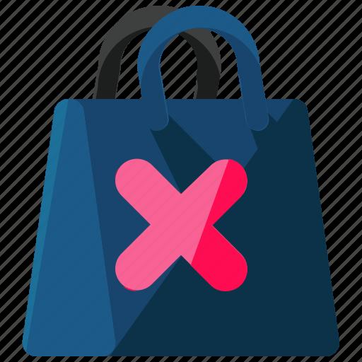 bag, cancel, commerce, ecommerce, shopping icon