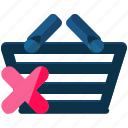 basket, cancel, delete, ecommerce, shopping icon