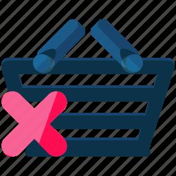 basket, cancel, delete, ecommerce, shopping icon
