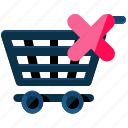cancel, cart, ecommerce, shopping icon