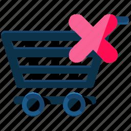 cancel, cart, delete, ecommerce, shop, shopping icon