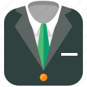 clothes, clothing, formal, shopping, suit icon