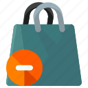 bag, delete, ecommerce, remove, shop, shopping icon