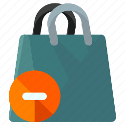 bag, delete, ecommerce, remove, shopping icon