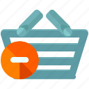 basket, delete, ecommerce, remove, shop, shopping icon