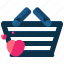 basket, commerce, ecommerce, favorite, shopping icon