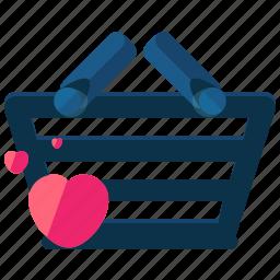 basket, commerce, ecommerce, favorite, shopping icon