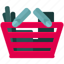 basket, ecommerce, full, shop, shopping icon