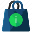 bag, ecommerce, information, shopping icon