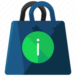 bag, ecommerce, information, shop, shopping icon
