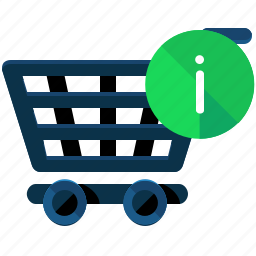cart, commerce, information, shopping icon