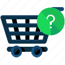 cart, ecommerce, faq, information, shopping icon