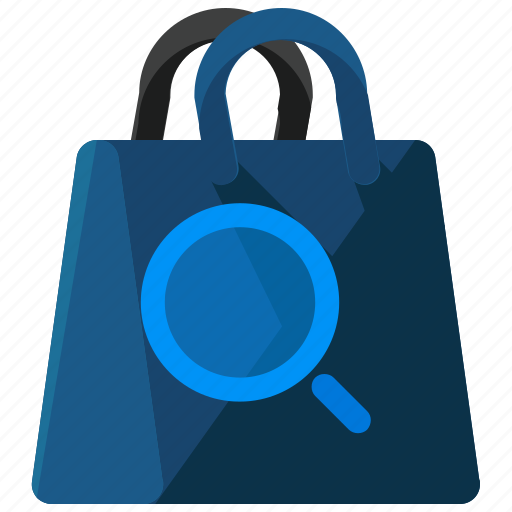 bag, ecommerce, find, search, shopping icon