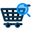 cart, find, search, shopping icon