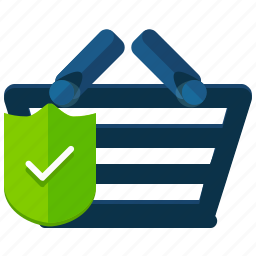 basket, confirm, ecommerce, shopping icon