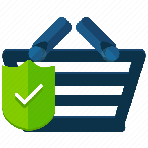 basket, ecommerce, safety, secure, security, shop, shopping icon