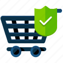 cart, confirm, purchase, shopping icon