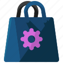 bag, ecommerce, options, settings, shopping icon