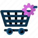 cart, ecommerce, settings, shopping icon