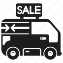 car, sale, van icon