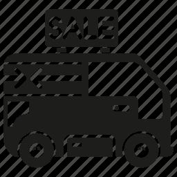 car, sale, van icon