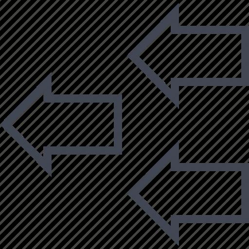arrows, back, buying, ecommerce, shop, shopping icon