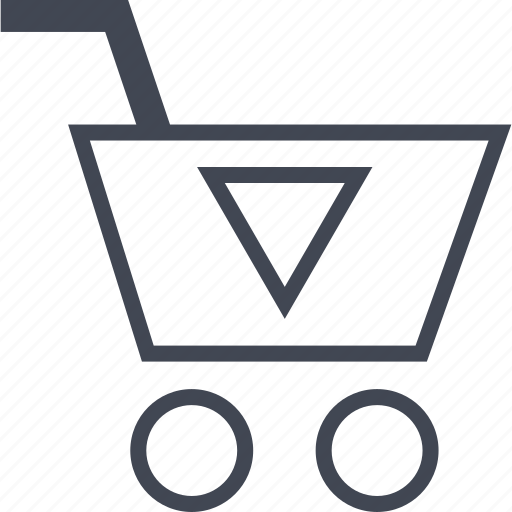 buying, cart, down, ecommerce, shop, shopping icon