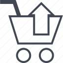 buying, cart, ecommerce, shop, shopping, up icon