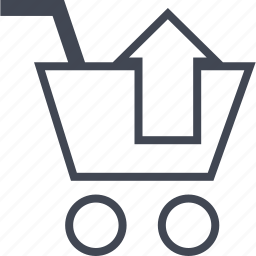 buying, cart, ecommerce, shop, shopping, up icon