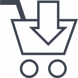 buying, cartd, down, ecommerce, shop, shopping icon