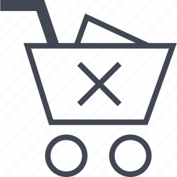 buying, cross, ecommerce, shop, shopping, stop icon