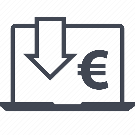 arrow, buying, ecommerce, euro, shop, shopping icon