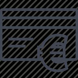 buying, card, ecommerce, euro, shop, shopping icon