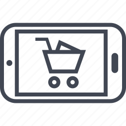 buying, cart, ecommerce, mobile, shop, shopping icon